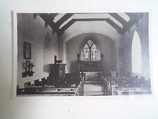 Rare RPPC Interior Buttermere Church Photo by G P Abraham Ltd Keswick Unused