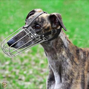 Greyhound Dog Muzzle Metal Basket Whippet Saluki Borzoi Muzzles For Dogs