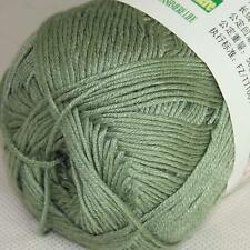 Sale New 1ballX50g Soft Baby Socks Natural Smooth Bamboo Cotton Knitting Yarn 14