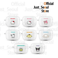 Official Hello Kitty Sanrio Clear Jelly Airpods Pro Case Cover+Keyring+Tracking