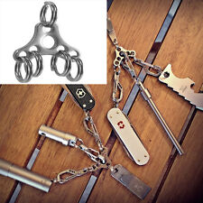 1X Stylish Removable Hat buckle Durable Keychain outdoor EDC tools Mini Key Ring
