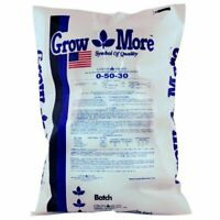 Grow More Water Soluble Fertilizer extra nutrients yields 0-50-30, 25Pounds lbs