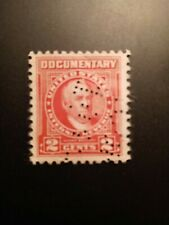 U.S. 1954 Scott #R655 2c Oliver Wilcot Documentary Single stamp Used FVF NG