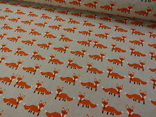 FOXES +++ LINEN LOOK FABRIC by CHATHAM GLYNN