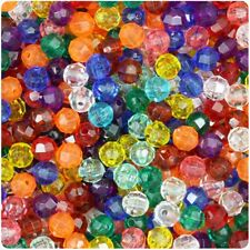 1000 - 6MM Multi-Color Faceted Beads - great price and a must have!!