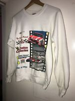 Vtg 1990 Sears Point Raceway Winston Cup Series Crewneck Sweater Anvil USA Made