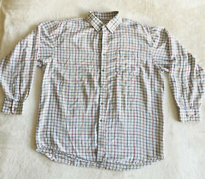 "Bonart Glastonbury Men's Multicoloured Check Button Up Shirt Size XXL 17.5"" Neck"