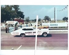 """1967 Drag Racing-""""TICKLE ME PINK vs """"BRUTUS""""-Funny Cars-Cecil County Drag-O-Way"""
