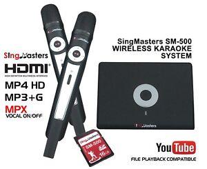 SingMasters Magic Sing Karaoke Machine Player,Digital Dual Wireless Mics,MP3+G