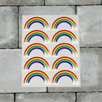 10 x Rainbow Stickers - Planner - Diary - Chase The Rainbow -  6638
