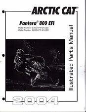 2004  ARCTIC CAT SNOWMOBILE PANTERA 800 EFI PARTS MANUAL P/N 2256-876  (573)