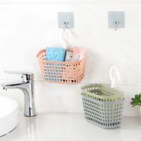1xBathroom Kitchen Shower Storage Box Holder Hanging Hook Shelf Basket Organiser