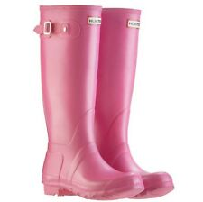 Hunter Original Tall Wellington Wellie Botas en Rosa Fucsia UK Size 8 Glastonbury