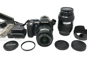 Olympus E-500 DSLR Camera 8.0MP with 14-45mm and 40-150mm Lenses, Good Condition