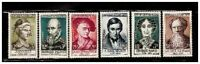 s23347) FRANCE 1957 MNH** Nuovi** Famous persons 6v Y&T 1107/13