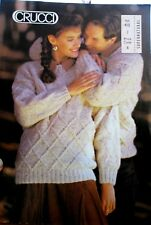 Crucci knitting pattern Book no. 415 Ladies & Men's sweaters