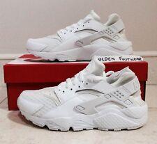Nike Air Huarache LE, Limited Edition, Triple White Size 6 UK Platinum White