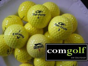 24 Callaway Top Flite Slazenger gelb Golfbälle Mix AAAAA Qualität 5 Star AAAA A
