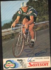 SIMONE FRACCARO Signée SANSON cyclisme Autographe cycling ciclismo radsport