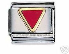 Authentic Zoppini Italian Charms-Red Triangle
