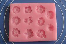Moule Gateaux en Silicone Petites Fleurs Pate à Sucre & d'Amande Cake Design