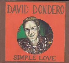 DAVID DONDERO - simple love CD