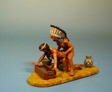 Lineol / Elastolin - Wild West – Indianer Erotik Diorama – 7cm Serie