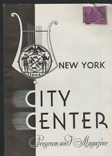 New York City Center Program Magazine October 1944 Merry Widow Stokowski
