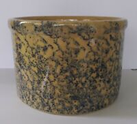 Vintage RRP Co. 1 Qt Blue Spongeware Stoneware Crock #700-B Roseville, Ohio, USA