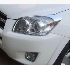 2pcs Chrome Front Head Light Lamp Cover Trim For Toyota RAV4 2006 - 2012