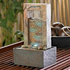 Tabletop Fountain Cascading Water Tranquil Patio Home Shelf Table Accent Decor