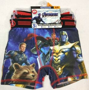 Marvel Avengers Endgame 3Pack Boxer Brief Underwear for Boys Size Small 6