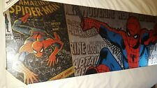 Marvel spiderman canvas collectible sticker price of 49.99 on it vintage