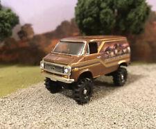 1975 Chevy G20 Van Lifted 4x4 Custom 1/64 Diecast Farm Truck Off Road Mudder 4WD
