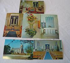 Six Jersey Postcards -  Views of St. Matthew's Church, Millbrook, C.I