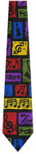 Men's Music Sax Trumpet G Clef Mixed Notes Treble Clef Necktie Ties