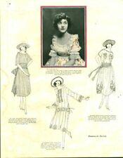 Publicité ancienne  mode robes  Geneviève Tobin 1921 issue de magazine