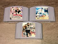 3 Game Lot Sports NBA Live NFL All-Star 2000 Nintendo 64 N64 Authentic