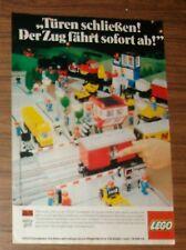 Seltene Werbung LEGO Trains Eisenbahn 7727 Güterzug mit Dampflok 1984