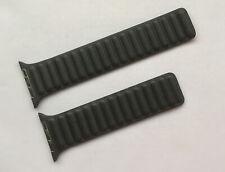 Genuine Apple Watch Strap BLACK Leather Link 44mm /42mm