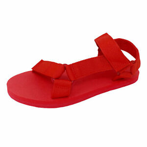 New Women's EVA Footbed Outdoor Hook and Loop Ankle Strap Comfort Flat Sandals