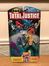 Kenner Total Justice Aquaman With Blasting Hydro Spear Action Figure MOC, 1996!