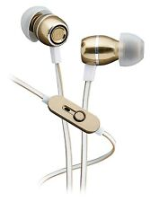iHome Noise Isolating Metal Earbuds with Microphone and Remote Gold Brand New