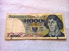 1000 Zloty Poland 1982 banknote