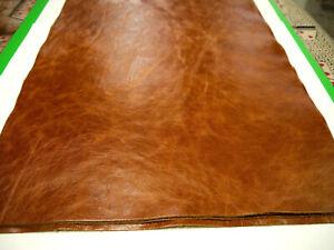 """Leather 4 piece panels Top Quality Large 18""""x 24"""" Cognac"""