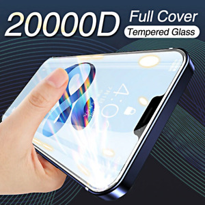 PELLICOLA VETRO TEMPERATO per Iphone 12 11 Pro Max Mini COPERTURA TOTALE 20000D