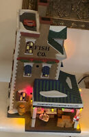 Department 56 EAST HARBOR FISH CO Shop Light Christmas in the City Holiday Decor