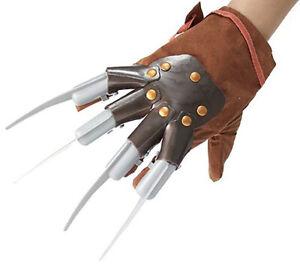 Freddy Krueger Glove Nightmare On Elm Street Movie Long Nails Costume Claw Prop