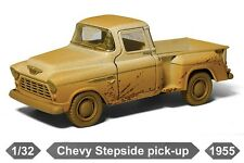 "New 5"" Kinsmart 1955 Chevy Stepside Pickup Truck Muddy Diecast Model 1:32 CREAM"