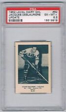 1952 Laval Dairy QHL Update Hockey Card Valleyfield J Deslauriers Graded PSA 6.5